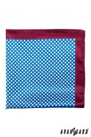Kapesníček modrý bílé puntíky