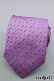 Fialová kravata s jemnými puntíky