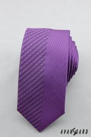 Pánská kravata fialová půlená