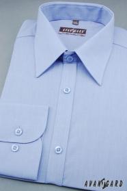 Pánská košile KLASIK středně modrá dlouhý rukáv