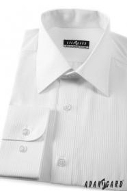 Pánská košile KLASIK bílá 80% bavlna