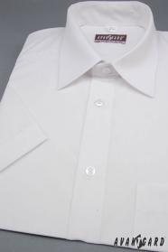 Pánská košile KLASIK s krátkým rukávem bílá