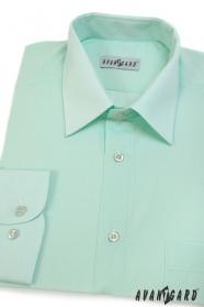 Pánská košile zelenkavá