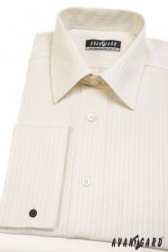 Pánská košile na manžetové knoflíčky smetanová