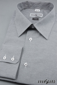Pánská košile SLIM s dlouhým rukávem Šedá