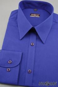 Pánská košile SLIM královská modrá výprodej