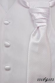 Svatební vesta s kravatou a kapesníčkem bílá vel. 54