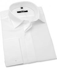 Bílá svatební košile na manžetové knoflíčky ANREDE