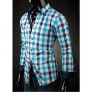 Pánská košile Victorio modrá kostka