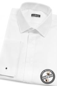 Pánská smokingová košile SLIM bílá prodloužená