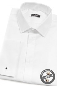 Pánská smokingová košile SLIM bílá 40/182