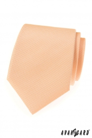 Strukturovaná kravata LUX lososové barvy