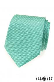 Mátová pánská LUX kravata s jemným vzorkem