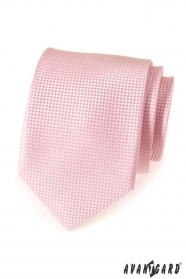 Růžová strukturovaná kravata LUX pro muže