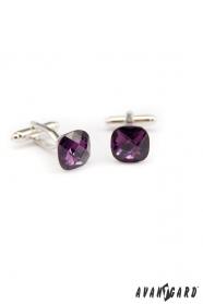 Manžetové knoflíčky fialový kámen