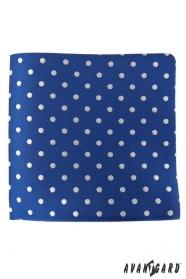 Modrý kapesníček se stříbrnými puntíky