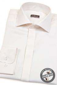 Pánská bavlněná košile SLIM smetanová