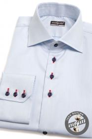 Modrá košile SLIM s barevnými doplňky