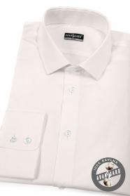 Pánská košile SLIM dlouhý rukáv smetanová