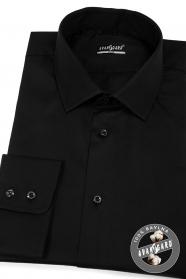 Černá pánská košile SLIM z bavlny