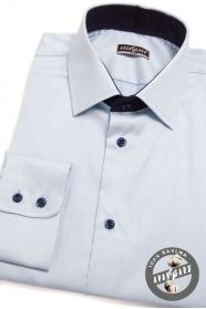 Košile SLIM světle a tmavě modrá