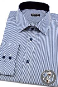 Pánská košile SLIM jemné modrobílé proužky