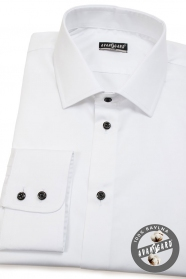 Bílá pánská košile SLIM ze 100% bavlny