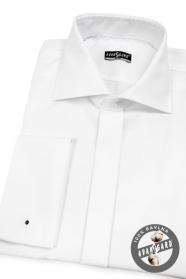 Pánská košile SLIM na MK měkká bavlna Bílá