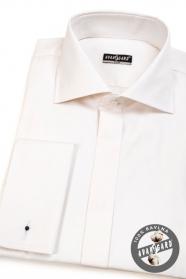Košile SLIM s krytou légou na MK Krémová