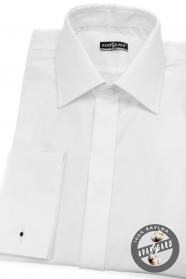 Pánská košile SLIM krytá léga, MK Bílá