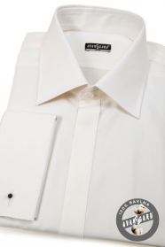 Pánská košile SLIM krytá léga na MK Béžová