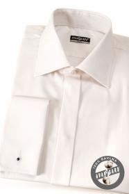 Pánská košile SLIM krytá léga MK smetanová