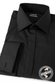Pánská košile SLIM krytá lega na MK černá