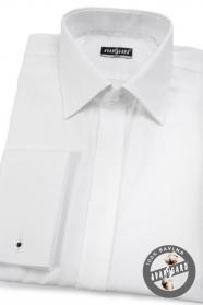 Bílá proštíhlená košile krytá léga 100% bavlna