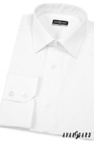 Pánská košile SLIM Bílá jednoduchá