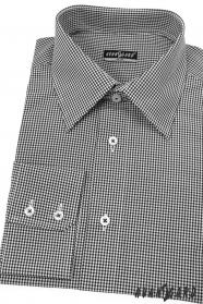 Pánská košile SLIM černá s jemnou kostkou