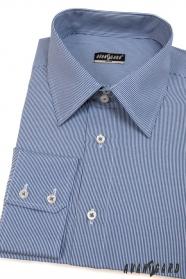 Pánská košile SLIM s modrobílými proužky