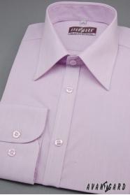 Pánská košile SLIM dlouhý rukáv barva Lila