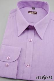 Pánská košile SLIM s dlouhým rukávem Fialová