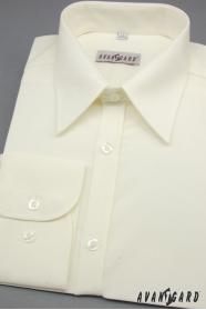 Pánská košile SLIM smetanová 80% bavlna