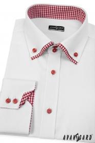 Bílá pánská košile SLIM s dlouhým rukávem