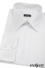Pánská košile SLIM bílá s jednoduchými proužky
