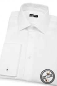 Pánská košile SLIM manžeta bílá bavlněná
