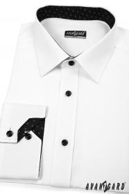 Pánská košile SLIM bílo-černá kombinace