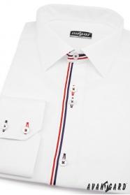 Pánská košile SLIM dlouhý rukáv Bílá