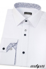 Moderní bílá košile SLIM s dlouhým rukávem