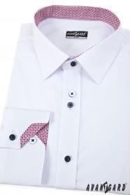 Bílá pánská košile Trikolóra