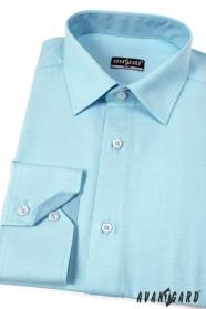 Košile SLIM tyrkysová s tmavší vnitřní látkou