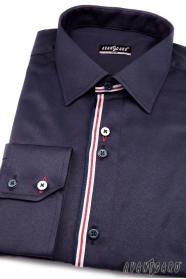 Pánská košile SLIM dlouhý rukáv Modrá