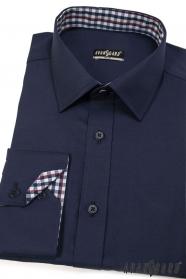 Proštíhlená košile SLIM tmavě modrá